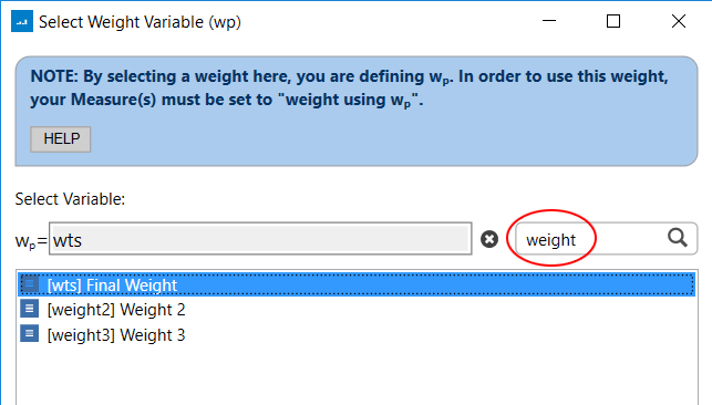 project weight search